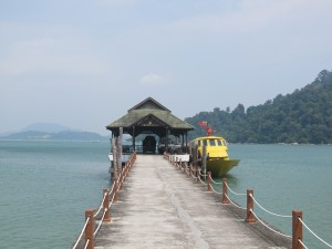 Short boat transfer to the Pangkor Island