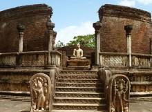 Hatadage monument Quadrangle Polonnaruwa, Sri Lanka