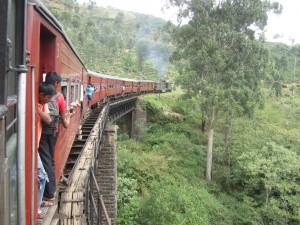 Train ride to Kandy Sri Lanka