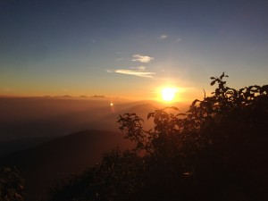 The enthralling sunrise over Adam's Peak