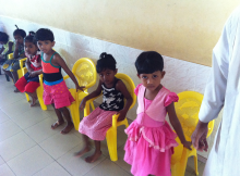 Some of the children standing up to greet me. Adorable.