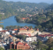 The breathtaking view over the Kandy city seen from Bahirawakanda Temple.