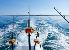Big game fishing boat
