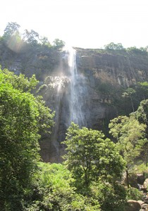 Nuwara Eliya area is brimming with stunning waterfalls like this one.