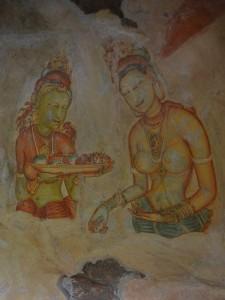 Iconic frescoes at Sigiriya.