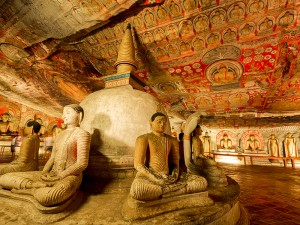 Inside the Dambulla Cave Temples.