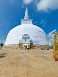 Ruwanwelisaya chedi in the sacred city of Anuradhapura Sri Lanka
