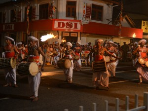 Traditional drummers lead the way.