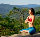 yoga in the mountain