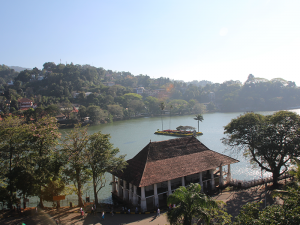 Kandy Lake seen from the Temple of Tooth