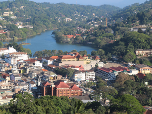 Kandy city seen from Bahirawakanda Temple